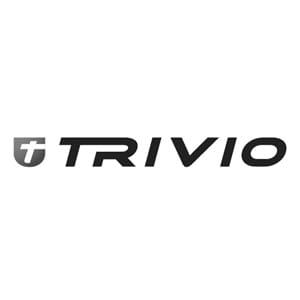 TRIVIO Schaumstoff Griffe mit Aufdruck blau